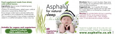 Asphalia for Sleep Label