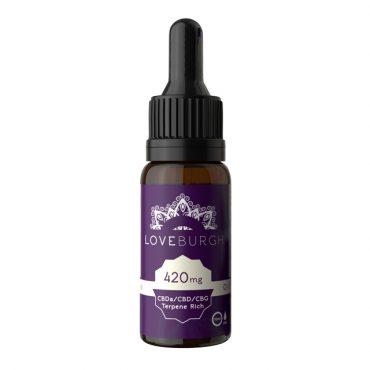 LoveBurgh 420mg CBD Oil Bottle